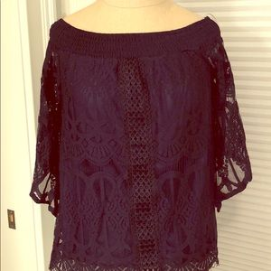 BRAND NEW WITH TAGS Navy Lace Top